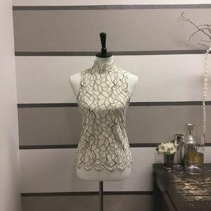 H&M Lace Tie-back Tank Top